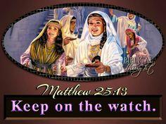 Wednesday, December 14 Keep on the watch.—Matt. 25:13. http://wol.jw.org/en/wol/h/r1/lp-e