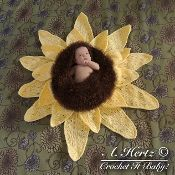 Sunflower Baby Bowl/Cocoon Photo Prop - via @Craftsy