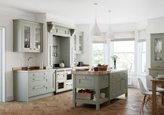 Baystone Windsor In-frame kitchen - Ash painted doors.
