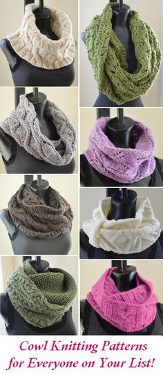 cowl knitting patterns for everyone
