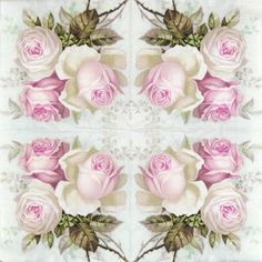 4 Single Table Party Paper Napkins for Decoupage Decopatch Vintage Wild Rose Mix | eBay