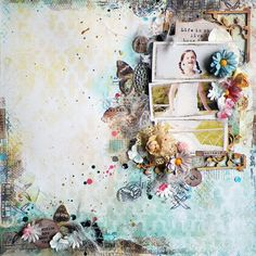"""Life Is Short Layout by Lisa Novogrodski for Scraps of Elegance using the March Kit """"Annas DayDream"""""""