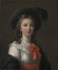 """This youthful self-portrait depicts Elisabeth Louise Vigée Le Brun at the age of about 26, several years after she painted the first of her many portraits of Queen Marie-Antoinette. 