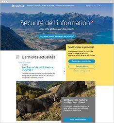 Page d'accueil de Navixia Site Internet, Web Design, Page Layout, Site Design