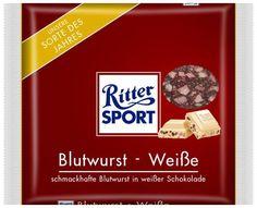 RITTER SPORT Fake Schokolade Blutwurst-Weiße