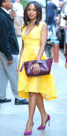 Look of the Day - September 24, 2014 - Kerry Washington from #InStyle