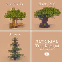 Minecraft Park, Minecraft Tree, Minecraft Garden, Minecraft Blocks, Minecraft Images, Cute Minecraft Houses, Minecraft Decorations, Minecraft Construction, Amazing Minecraft