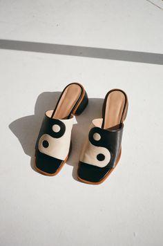 Balance Heel - Black/White - Lisa Says Gah