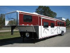 Custom Painted Horse Trailers | 2012 Royal Custom 17' LQ 4 Horse Trailer Montana, Lewis and clark