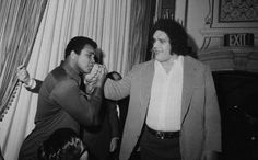 Muhammad Ali and Andre The Giant | Rare and beautiful celebrity photos