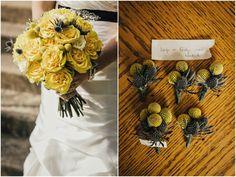 Yellow Rustic Wedding Flowers