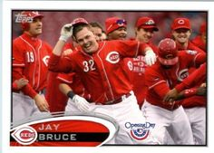 2012 Topps Opening Day Baseball #44 Jay Bruce Cincinnati Reds - MLB Trading Card by Topps. $1.87. 2012 Topps Opening Day Baseball #44 Jay Bruce Cincinnati Reds - MLB Trading Card