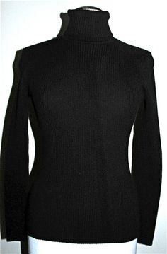 Nomadic Traders W's Turtle Neck Ribbed Sweater Black Size Large $66.00 NWT #NomadicTraders #Turtleneck