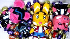My hand painted custom vinyl toys Easter Bunee mini-qee! BLOG POST:  http://rez2cool.blogspot.ca/2012/04/albert-art-easter-bunee-mini-qee-custom.html