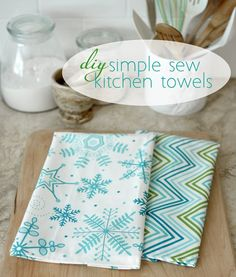diy simple sew kitchen towels