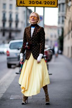 Attendees at Milan Fashion Week Fall 2018 - Street Fashion