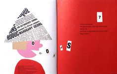 Interior spread children's book Sparkle and Spin designed by Paul Rand, Harcourt Brace, I think in 1956