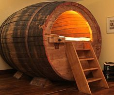 Get a chance to slumber just like the old brew masters of yesteryear when you spend a night in the beer barrel bed. Crafted from an actual retired nineteenth century barrel, this unique bed comfortably accommodates 1 or 2 people, as long as no one's claustrophobic.
