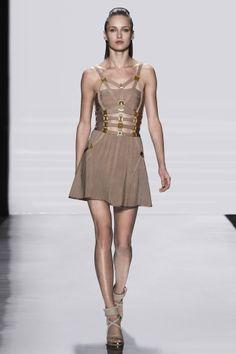$206.88 Herve Leger Orange Dress - Giuliana A Line With Metal Hardware Detail