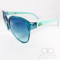 Belíssimo Lacoste L641, um óculos de sol sofisticado, de cores leves e  lentes em f915ca4344