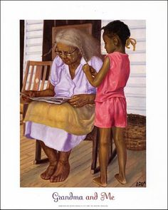 This brings back a lot of memories Cucu and me Love it Black Art of African American Friends and Family American Art, African, Art Painting, Female Art, Art Girl, Black Girl Art, Art, African American Art, Art Pictures