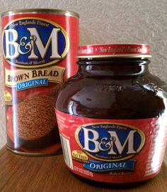 B Baked Beans and Brown Bread, Maine food. Love to smell the air when driving  past the B plant in Portland on I-95
