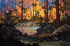 Woodland Water, by Phil Buytendorp 24x36 $2480