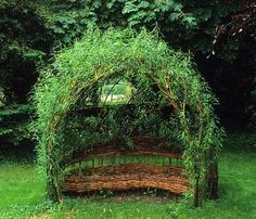 gsea.075 woven willow seat garden