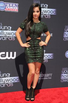 The Best Looks from the 2013 Young Hollywood Awards --> Becky G in Miss Guided  She looks stunning right here