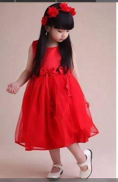 5c0ad03331de kind in rot Baby Girl Red Dress, Little Girl Dresses, Flower Girl Dresses,