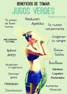 Beneficios de tomar jugos verdes.