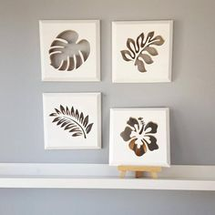 Four Piece Botanical Wall Art, Tropical Leaf Wall Art, Tropical Plant Decor, Floral Decor, Decor For Living Room - Pins Leaf Wall Art, Metal Tree Wall Art, Wood Wall Art, Artwork Wall, Donate A Tree, Diy And Crafts, Paper Crafts, Decoration Plante, Tropical Leaves