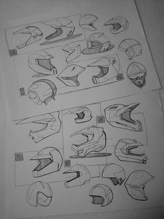 -Motorcycle helmet design sketch practice- Motorcycle Helmet Design, Bicycle Helmet, Bike, Skull Helmet, Ai Illustrator, Sketch Markers, Wearable Device, Automotive Design, Paint Designs