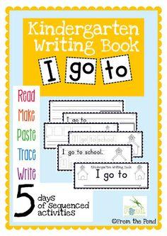 Classroom Freebies: Kinder Writing Freebie