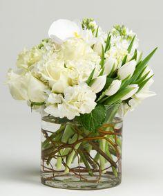 Spring Whites Arrangement Philadelphia (PA) Robertson's Flowers
