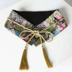 New Retro Vintage Gold Embroidered Kimono Belts Women Fashion