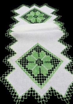 Antique Table Runner Hardanger Embroidery by VintageLinens on Etsy, $42.00)(