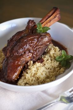 Indian Spiced Braised Lamb Shank - Click for Recipe
