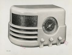 Norman Bel Geddes - Majestic Radio tabletop radio (Model 651)  (1939)