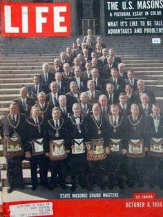 U S Masons State Masonic Grand Masters 1956 October 8 Life Magazine Masonic Order, Masonic Art, Masonic Lodge, Illuminati, Famous Freemasons, Jobs Daughters, Grand Lodge, Eastern Star, Freemasonry