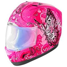 Shop for Icon Alliance Chrysalis Full Face Motorcycle Helmet - Pink at You Womens Motorcycle Fashion, Full Face Motorcycle Helmets, Motorcycle Gear, Motorcycle Accessories, Biker Helmets, Motocross Helmets, Vehicle Accessories, Icon Helmets, Pink Helmet