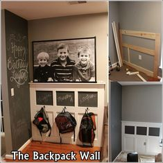 This would work even in my small laundry room to give all the kids their own spot!  :)  hmmmm.....