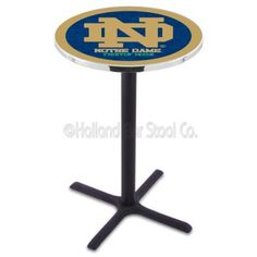 A Must have for any Football fan Notre Dame ND Pub Table X Style Base Black/Grey