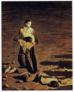 Norman Rockwell (American, 1894-1978). Murder in Mississippi (Southern Justice), 1965. Unpublished story illustration for Look, June 29, 1965. Oil on canvas. 53 x 42 in. (134.6 x 106.7 cm). http://arthistory.about.com/od/from_exhibitions/ig/american_chronicles/aonr_dia_09_20.htm