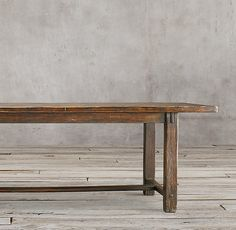 17th C. Spanish Monastery Rectangular Dining Table $2246 member price, 72""