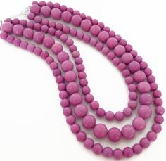 Radiant Orchid Jewelry - Purple Turquoise Necklace by PolishedPlum, $64.00