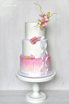 Pink Hydrangea by Lorna - http://cakesdecor.com/cakes/267583-pink-hydrangea