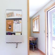 PORTLAND: modern wall mounted office home back to school organizer bulletin cork board magnetic whiteboard pocket message center key hooks by PIGandFiSH on Etsy https://www.etsy.com/listing/192829388/portland-modern-wall-mounted-office-home