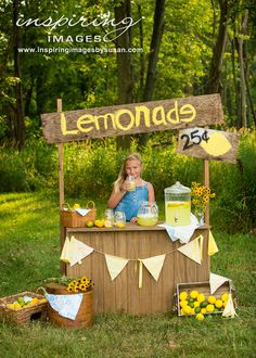 An adorable Lemonade Stand mini session.