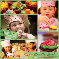 Pra deixar as festas infantis ainda mais divertidas as 'Oficinas de Cupcakes' estão vindo com tudo. Normalmente empresas terceirizadas são contratadas, levam os cupcakes assados e as crianças ou adultos se encarregam da decoração.
